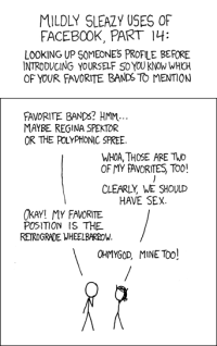 Is observing the eye movement of others an earlier version of facebook? (picture: xkcd.com)